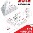 Stock Vector: Vector template for calendar 2012