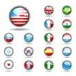 Vector set of world flags — Vector de stock