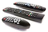 Three remote controls — Stock Photo
