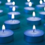 Group of burning candles — Stock Photo