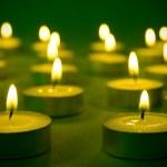 Warm burning candles — Stock Photo