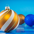 Colorful christmas baubles — Stock Photo #7462877
