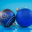 Two christmas baubles — Stock Photo #7462930