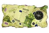 Concetto di crisi euro — Foto Stock