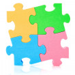Colorful jigzaw puzzle — Stock Photo