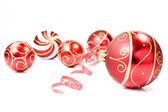 Vánoční ozdoby na bílém pozadí — Stock fotografie