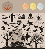 Collection on a holiday theme halloween. — Stock Vector