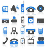 Set of icons on a theme the electronic technics. — Stock Vector
