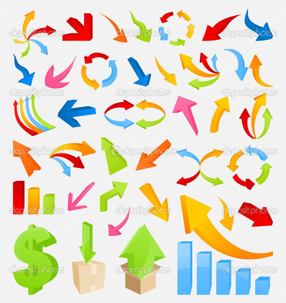 Set of icons for the artist. A vector illustration — Stock Vector #6940600