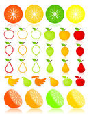 Fruit icons vector — Stock Vector