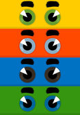Eyes a cartoon film of the character. — Stock Vector