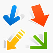 Icon of an arrow of different kinds. — Stock Vector