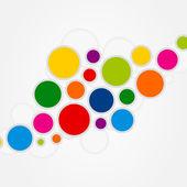Background cheerful multi-coloured balls. — Stock Vector
