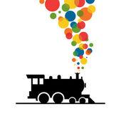Bolas de una tubería de tren. — Vector de stock
