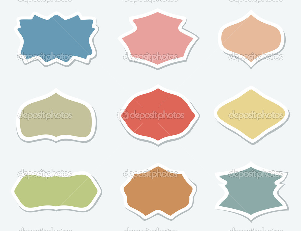 Set of icons for the artist. A vector illustration — Stock Vector #7506977