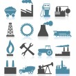 Set of icons on a theme the industry. — Stock Vector #7684175