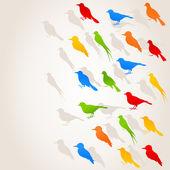 Birds fly flight on the sky. — Stock Vector