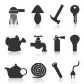 Set of icons on a theme house subjects. — Vecteur