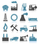 Set of icons on a theme the industry. — Vector de stock
