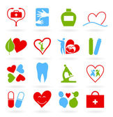 Set of icons on a theme medicine. — Stock Vector
