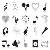 Set of musical plots from notes. — Stock Vector