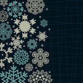 Struktura śnieżynka na niebieskim tle. — Wektor stockowy
