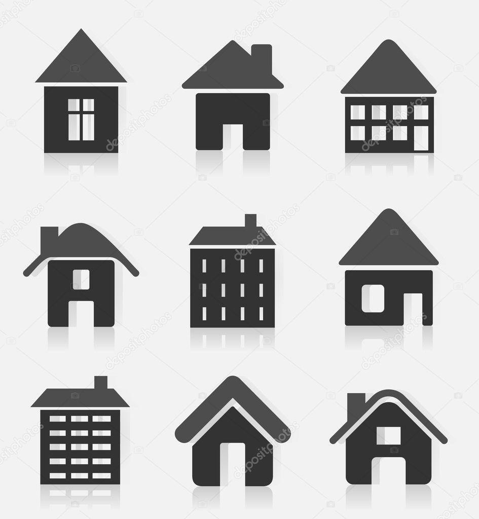 房子 logo 灰色