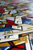 Stedelijk verval met levendige kleuren — Stockfoto