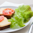 Bread with cheese - Stockfoto