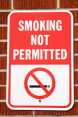 Smoking Not Permitted Sign — Stock Photo