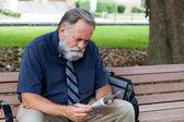 Man Looking At Job Ads — Stock Photo