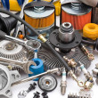 Lots of auto parts — Stock Photo #6752780