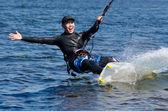 Happy kitesurfer — Stockfoto