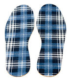 Flannel insoles — Stock Photo
