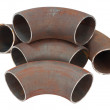 Steel pipe bends — Stock Photo #7350447