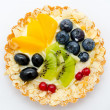 Fruit and berry tartlet — Stock Photo