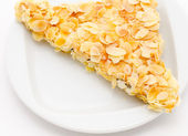 Shortcake in almond — Stock Photo