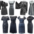 Stock Photo: Black and grey dresses set