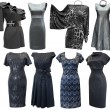 Black and grey dresses set — Stock Photo