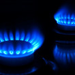 Burning gas burners — Stock Photo #7890187