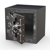 Safe in stainless steel. Bank Vault — Stock Photo