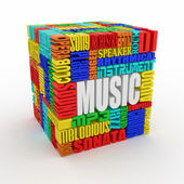 Music. Abstract cube. — Stock Photo