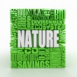 Nature. Abstract cube. — Stock Photo #7300930