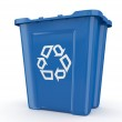 Empty recycle bin with sign recycling — Stock Photo #7300934