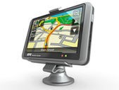 Navigation system. Gps. 3d — Stock Photo