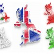 Three-dimensional map of Great Britain — Stock Photo