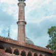 Jama Masjid minaret, India's largest mosque — Stock Photo