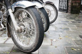 Bikes in a row — Stock Photo