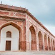 Arches of Humayun's tomb, Delhi, India - Stock Photo