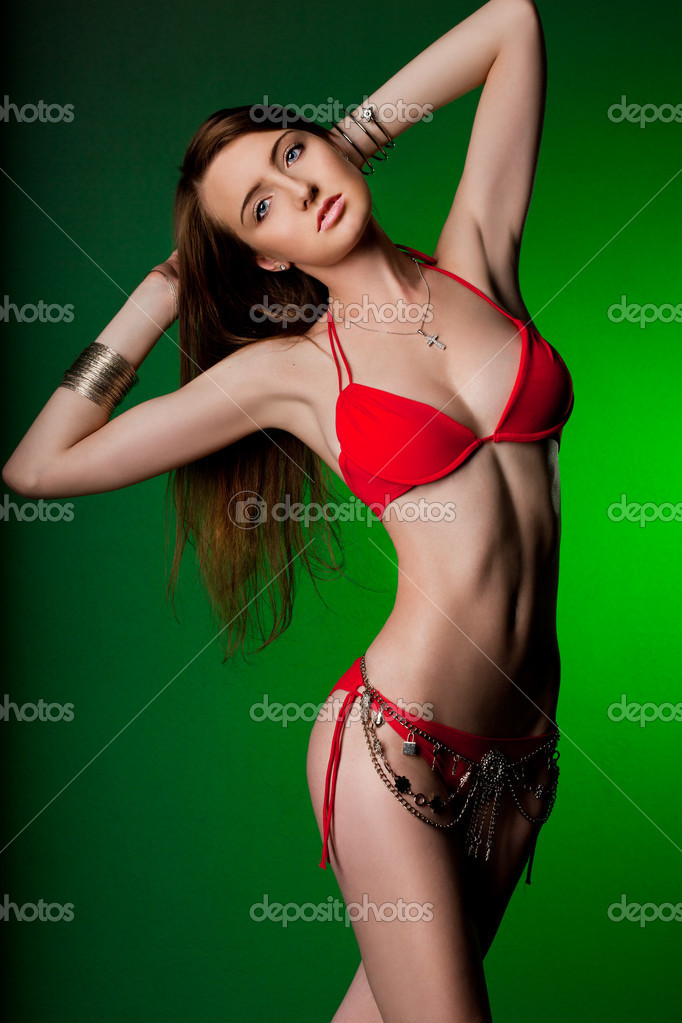 Elegant fashionable woman in underwear  — Stock Photo #7112685